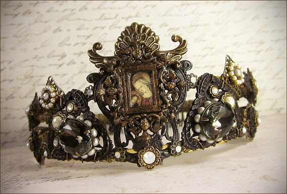 Renaissance Tiara Medieval Crown Custom By Rabbitwoodandreason