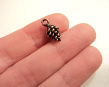 Pinecone Charms - Antique Copper - Set of 10 - #P102