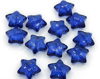 Acrylic Star Beads - Set of 8 beads - #ACR174