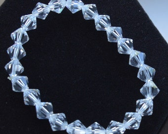Sparkly Vintage Clear Crystal Elasticized Bracelet