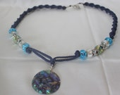 MACRAME and BEaDED NECkLACE