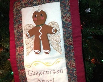 Cinnamon Scented Quilted Gingerbread Angel