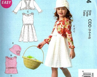 GIRLS CLOTHES PATTERN / Make Girls Top - Dress - Skirt - Jacket - Hat / Sizes 2 - 5 or 6 - 8