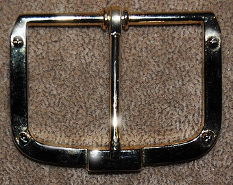 Vintage 3 Gold Plated Extra Fancy 47X61MM Buckles P4R