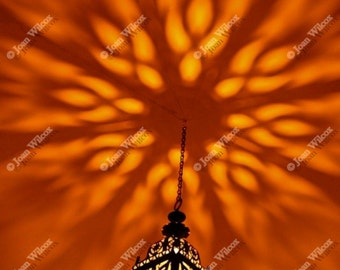 Moroccan Nights Candle Lantern Dancing Flames Fine Art Photography Still Life Photo Print