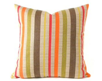 Striped SUNBRELLA Pillow Cover - Striped Indoor Outdoor  Pillow Cover - Outdoor Pillow Cover - Small Outdoor Pillow