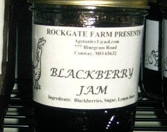 Blackberry Jam, Farm Fresh, All Natural, 1/2 Pint (8 oz.)