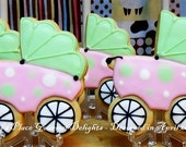 Baby Carriage Cookies - 12 Cookies