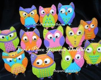 Wild and Wacky - OWL COOKIES - 12 Cookies