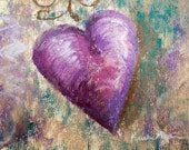 Happy Heart II - small original pastel painting, matted to 8 x 10