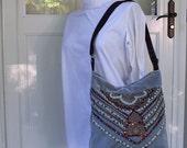 OOAK Handmade Bohemian Gypsy Bag Teal N Chocolate
