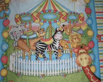 Carousel Baby Crib Quilt - CLOSE OUT ITEM