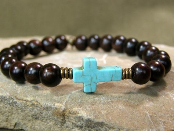 bracelet for men turquoise bracelet cross bracelet wood. Black Bedroom Furniture Sets. Home Design Ideas