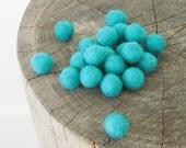 Felt Balls, DIY Wool Beads, Felted, Teal Blue Aqua Turquoise Needle Felting Craft Crafting Beach Sea Nautical Woodland