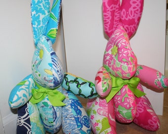 Bunny made Lilly pulitzer fabric