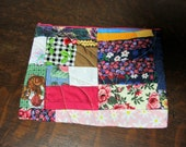 Cosmetic Zipper Bag:  Colorful Patchework Quilted Travel bag, ready to ship, Pouch, Case