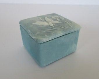 Stone Butterfly Trinket Box