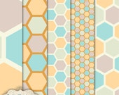 INSTANT DOWNLOAD - Honeycomb Patterns - Layered Patterns - Commercial Use Ok -  5 Layered Patterns -