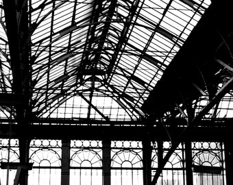 Glasgow Station -- black and white fine art photography print (free shipping)