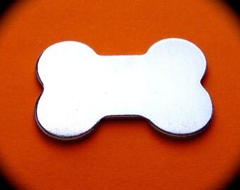 SALE - 10 Extra Large Dog Bone Blanks Polished 1-5/16 x 2 Inch 14 Gauge Pure Food Safe Aluminum - 10 Blanks - Made in USA