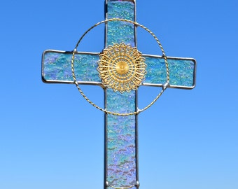 Stained Glass Cross Etsy