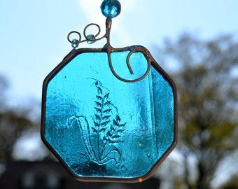 Little Turquoise Flower Suncatcher