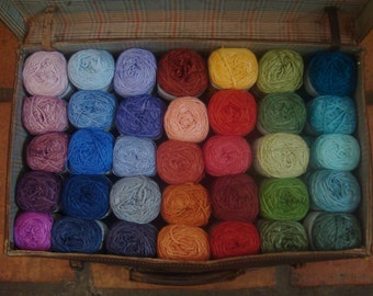 Hand dyed Bamboo yarn- vegan friendly - 5 skeins (9 ounces)