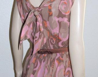Reserved Chiffon R & K Originals Fitted Waist Summer Dress S to M