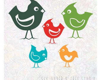 Little Birds Vol 2 Wall Vinyl Decals Art Graphics Stickers