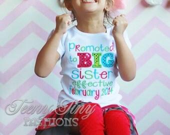 Promoted to Big Sister Shirt ~ Big Sister Announcement Shirt ~ Big Sis Shirt ~ Big Sister Outfit ~ I'm Going to be a Big Sister ~ New Baby