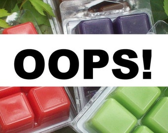 Discount wax melts, OOPS sale, overstock and surplus, clearance priced wax melts