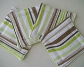 Mod Fabric Coaster Set of 4 Wavy Stripe Abstract