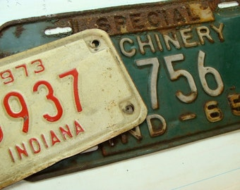 Antique Vintage Metal License Plate Lot