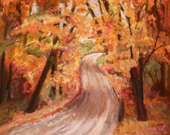 Country Road- A16X20 Original Acrylic Painting on stretch canvas