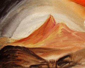 Io Sol Uno - Original Acrylic Painting on Canvas Board 11x14