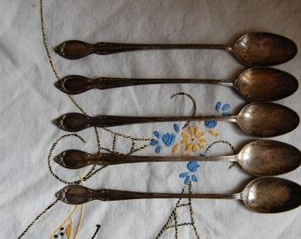 Vintage Ice Tea spoons set of five