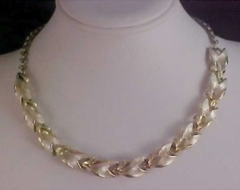 FREE Ship ~ Alluring Silver & Gold Plate Link Choker/Necklace