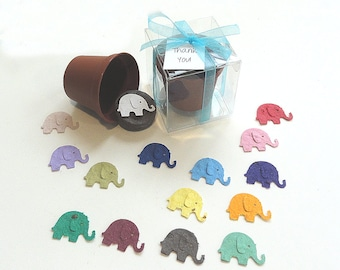 Seed Paper Confetti Elephant Baby Boy Baby Girl Baby Shower Favors Personalized Set of 25 Favors