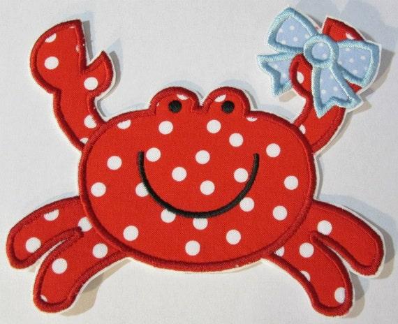 Iron On Applique - Summer Crabs Boy and Girl