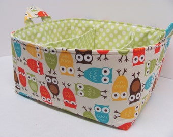 NEW Fabric Diaper Caddy - Fabric organizer storage bin basket - Perfect for your nursery