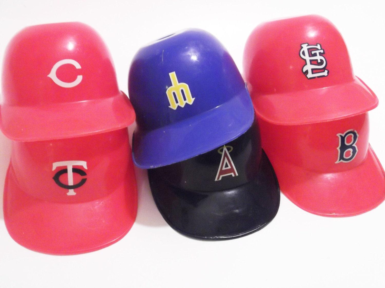 mini plastic baseball helmet cap dishes laich 1980s