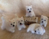 Needle Felted Tiny Westie Dog, or Custom Breed