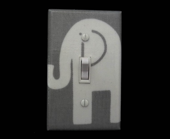 Grey Elephant Light Switch Plate Cover Premier Prints Ele