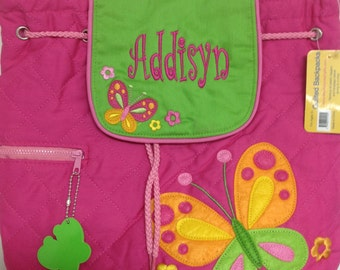 Personalized Quilted Stephen Joseph Butterfly Backpack
