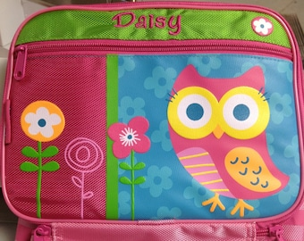 Personalized Stephen Joseph Owl Lunchbox