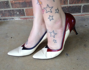 Red White and Blue Stilettos