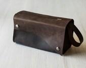 Leather Dopp Kit/Toiletry Bag