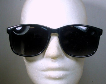 1970s Black Sunglasses, Unused, Just Opened a Stash Vintage Box from My NYC East Village Old Shop,
