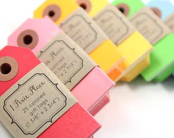 Manila Neon Gift Tags - Set of 25 - Choose your color