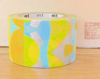 SALE - mt expo 2013 washi masking tape -  abstract - colour configuration - yellow